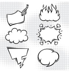 Set of comic speech bubbles in cartoon style vector image vector image