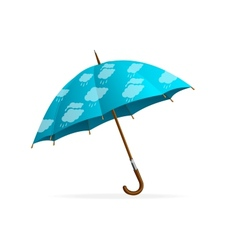 Blue Umbrella and clouds vector image vector image