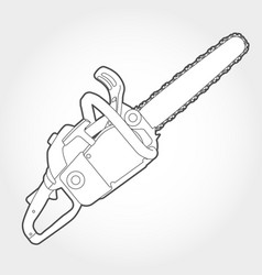 gasoline-powered chain saw silhouette vector image