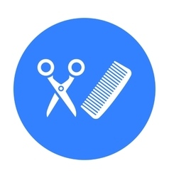Hairdresser icon of for web vector image vector image