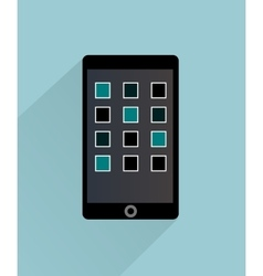 Smartphone Isolated Icon vector image