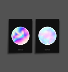 abstract holographic gradient texture background vector image