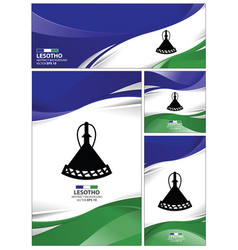 abstract lesotho flag background vector image