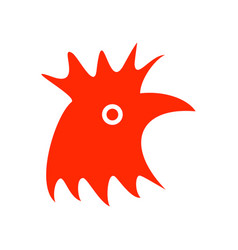 abstract red rooster symbol vector image