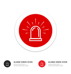 Alarm siren flat icon for application or website vector