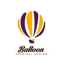 balloon original design badge with hot vector image