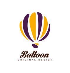 balloon original design crerative badge with hot vector image