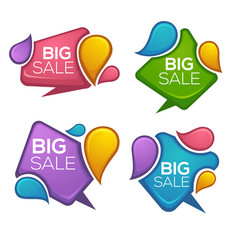 big sale collection of glossy and bright vector image