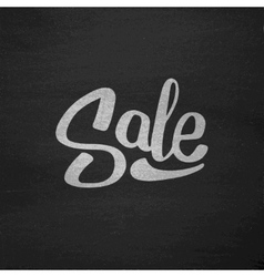 Black Friday Sale Typography on Chalkboard vector image