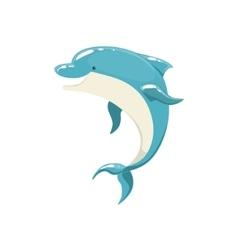 Blue bottlenose dolphin jumping for entertainment vector