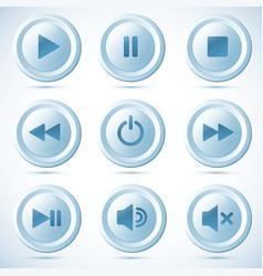 Blue plastic navigation buttons vector