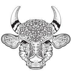 bull cow abstract head symbol year 2021 vector image