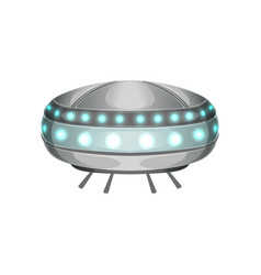 Cartoon extraterrestrial spaceship in futuristic vector