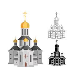 Cartoon holy church of christian religion with vector