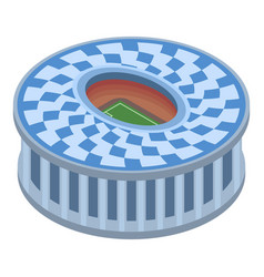 circle sport arena icon isometric style vector image