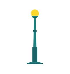 city street lamp post concept flat design vector image