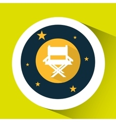 Concept cinema theater chair director graphic vector