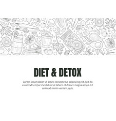 cover for detox and diet vector image