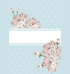 Cover or card template shabby chic flowers on vector