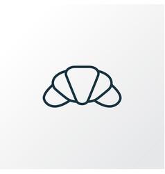 croissant icon line symbol premium quality vector image