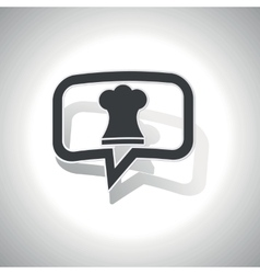 Curved chef hat message icon vector