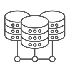 data center thin line icon data and analytics vector image
