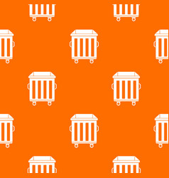 Dumpster on wheels pattern seamless vector