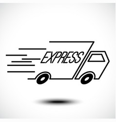 express delivery line icon vector image