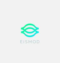 eye logo icon design abstract modern minimal style vector image