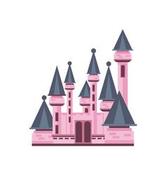 Fairytale fantasy pink castle vector