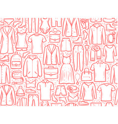 fashion background seamless clothes pattern vector image