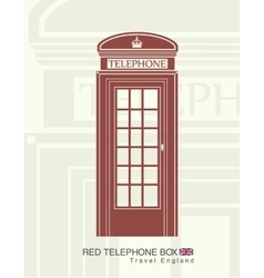 figure of a red telephone boot vector image