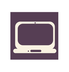 Flat style computer icon vector