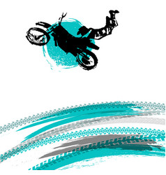 Flying motorcycle image vector