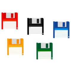 for a computer floppy disk vector image