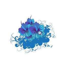 Funky flower vector