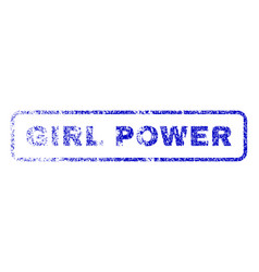 Girl power rubber stamp vector