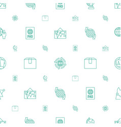 global icons pattern seamless white background vector image