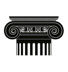 Greek capitals of columns vector