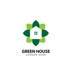 Green house logo design vector