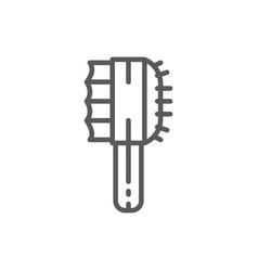 Grooming tools comb for wool line icon vector