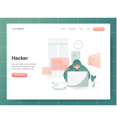 hacker concept modern design concept web page vector image