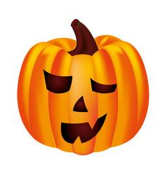 halloween party pumpkin character vector image