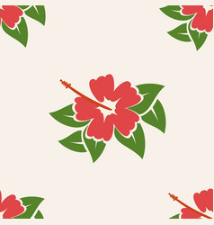 hawaiian aloha shirt seamless background pattern vector image