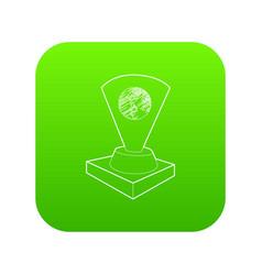 Holograma icon green vector