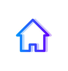 Home blue purple gradient icon house symbol vector