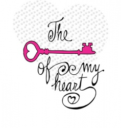 Key of my heart vector