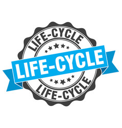 Life-cycle stamp sign seal vector