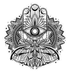 Magic talisman religion asian black color graphic vector