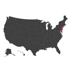Map of usa - new jersey vector